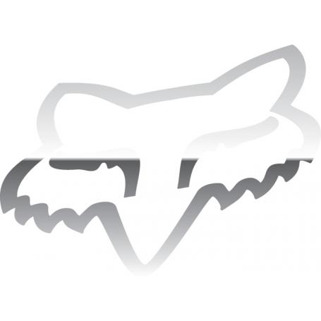 Stickers FOX Head TDC 4.5 cm Chrome