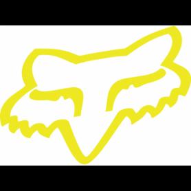 Stickers FOX Head TDC 4.5 cm Flo Yellow