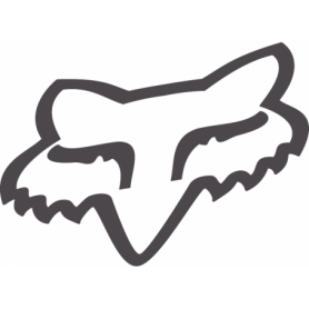 Stickers FOX Head TDC 4.5 cm Matt Charcoal