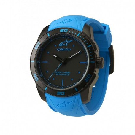 Montre ALPINESTARS Tech Watch 3H Black Case Blue Accents Blue Silicon Strap Black Blue