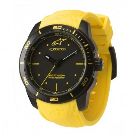 Montre ALPINESTARS Tech Watch 3H Black Case Yellow Accents Yellow Silicon Strap Black Yellow