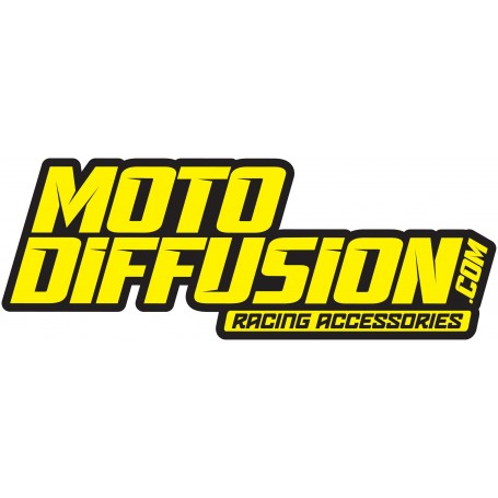 Autocollant de Camion Moto Diffusion Jaune