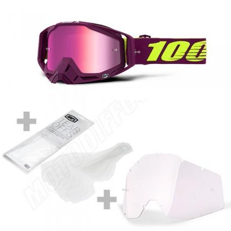 Masque Cross 100% The Racecraft Klepto Miroir Pink