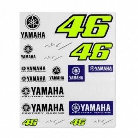 Planche de Stickers VR46 Racing Yamaha Dual