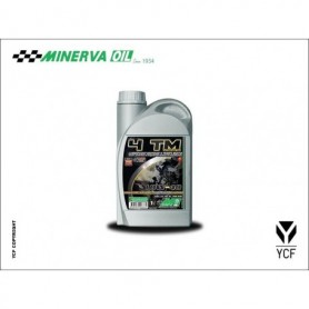 Huile 4 Temps Synthese Minerva YCF Synthese 10W40 1 Litres