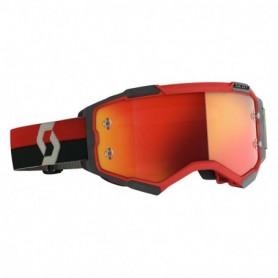 Masque Cross SCOTT Fury Red Black Orange Chrome Works