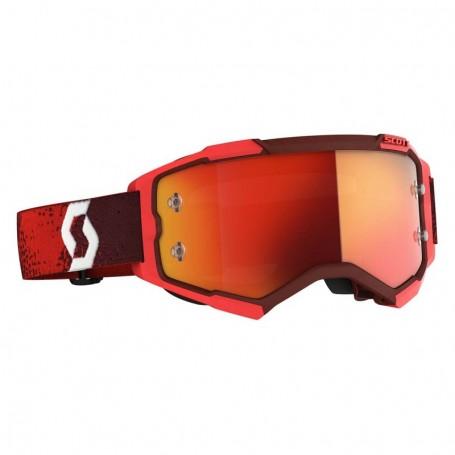 Masque Cross SCOTT Fury Red Orange Chrome Works