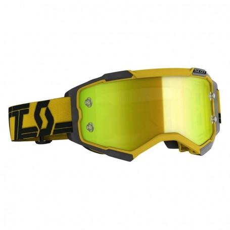 Masque Cross SCOTT Fury Yellow Black Yellow Chrome Works
