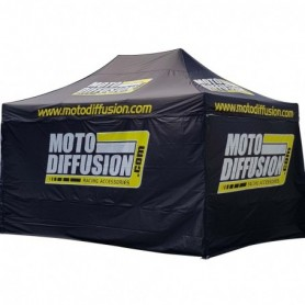 Tente Canopy Aluminium MOTO DIFFUSION 3 M x 4.5 M