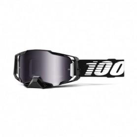 Masque Cross 100% Armega Black Silver Flash Mirror
