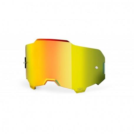 Ecran 100% Anti buée Miroir Gold pour Masque Armega
