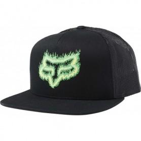 Casquette FOX Flame Head Snapback Black Green Pe 19