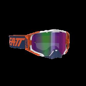 Masque Cross LEATT Velocity 6.5 Iriz Ink Orange Purple Mirror
