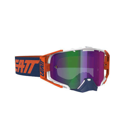 Masque Cross LEATT Velocity 6.5 Iriz Ink Orange Purple Mirror