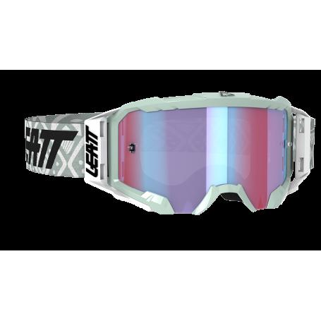 Masque Cross LEATT Velocity 5.5 Iriz White Blue Mirror