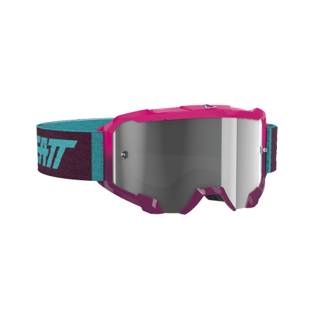 Masque Cross LEATT Velocity 4.5 Neon Pink Light Grey