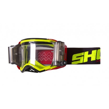 Masque Cross SHOT Lite Roll Off Red Neon Yellow Glossy