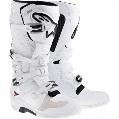 Bottes Moto Cross ALPINESTARS Tech 7 White