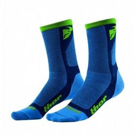 Chaussettes de cross THOR Dual Sport Cool Blue Green