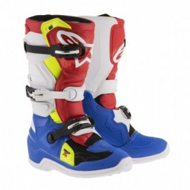 Bottes Moto Cross ALPINESTARS Tech 7S Blue White Red Yellow Fluo
