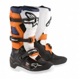 Bottes Moto Cross ALPINESTARS Tech 7S Black Orange White Blue
