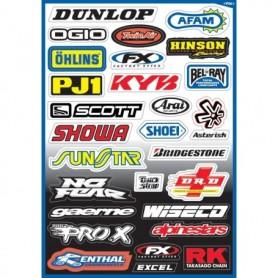 Planche de Stickers Factory Effex Sponsor A