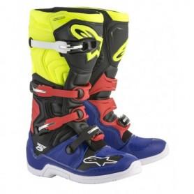 Bottes Moto Cross ALPINESTARS Tech 5 Blue Black Yellow Fluo Red