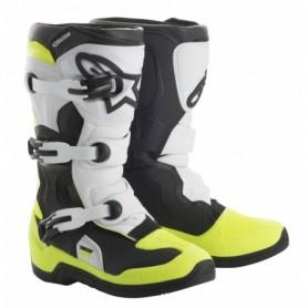 Bottes Moto Cross ALPINESTARS Tech 3 S Black White Yellow Fluo Enfant