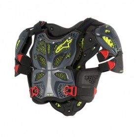 Pare Pierre ALPINESTARS A10 Protector Anthracite Black Red