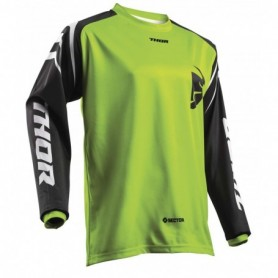 Maillot Cross THOR Sector Zones Lime 19