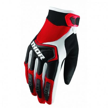 Gants Moto Cross THOR Spectrum Red Black White