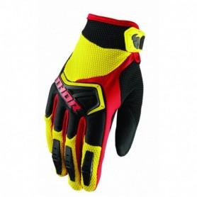 Gants Moto Cross THOR Spectrum Yellow Black Red