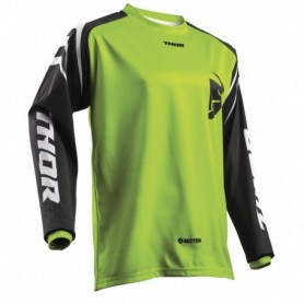 Maillot Cross THOR Youth Sector Zones Lime 19
