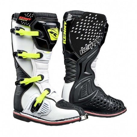 Bottes Moto Cross KENNY Track Black White Neon Yellow