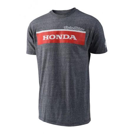 T Shirt TROY LEE DESIGNS Honda Wing Block Gray
