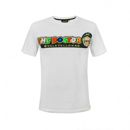 T Shirt VR46 Cupolino White