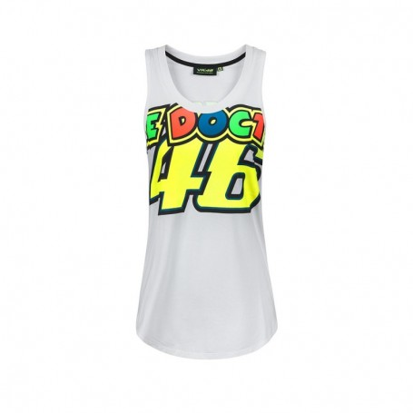 Débardeur VR46 Stripes White Women