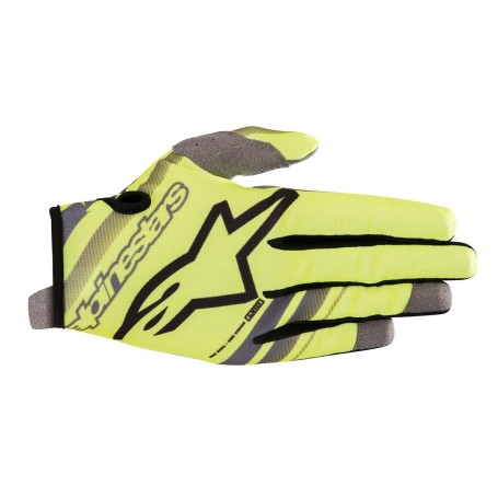 Gants Moto Cross ALPINESTARS Radar Yellow Fluo Gray 19