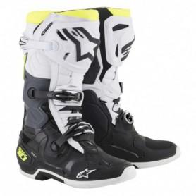 Bottes Moto Cross ALPINESTARS Tech 10 Black White Yellow Fluo