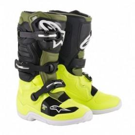 Bottes Moto Cross ALPINESTARS Tech 7S Yellow Fluo Military Green Black