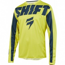 Maillot Cross SHIFT Youth Whit 3 York Yellow Navy 19