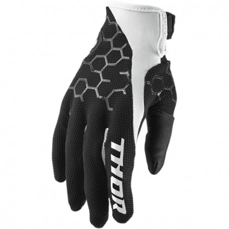 Gants Moto Cross THOR Draft Black White