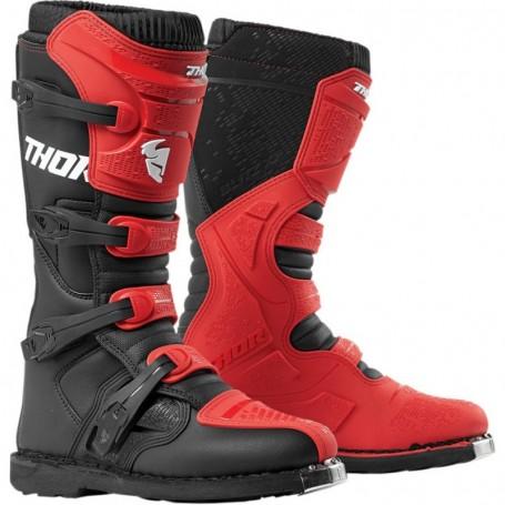 Bottes moto cross THOR Blitz XP Red Black
