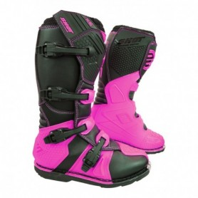 Bottes Moto Cross SHOT X10 2.0 Neon Pink