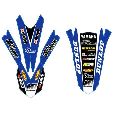 Stickers de Garde Boue Avant + Arriere MOTO DIFFUSION Yamaha