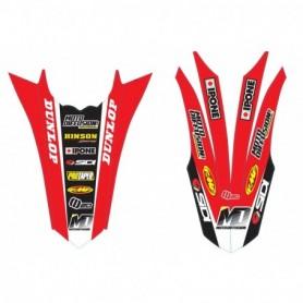 Stickers de Garde Boue Avant + Arriere MOTO DIFFUSION Honda