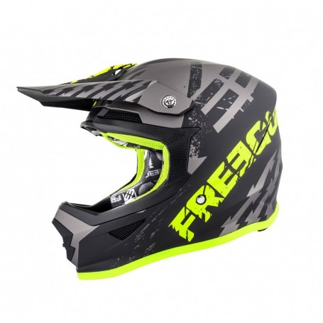 Casque cross FREEGUN Xp4 Outlaw Grey Neon Yellow Matt