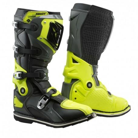 Bottes Moto Cross KENNY Titanium Grey Neon Yellow