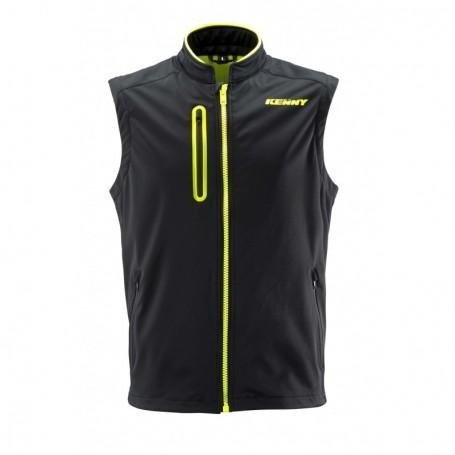 Bodywarmer KENNY Black Neon Yellow