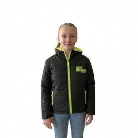 Doudoune Officielle Moto Diffusion Black Yellow Fluo Enfant